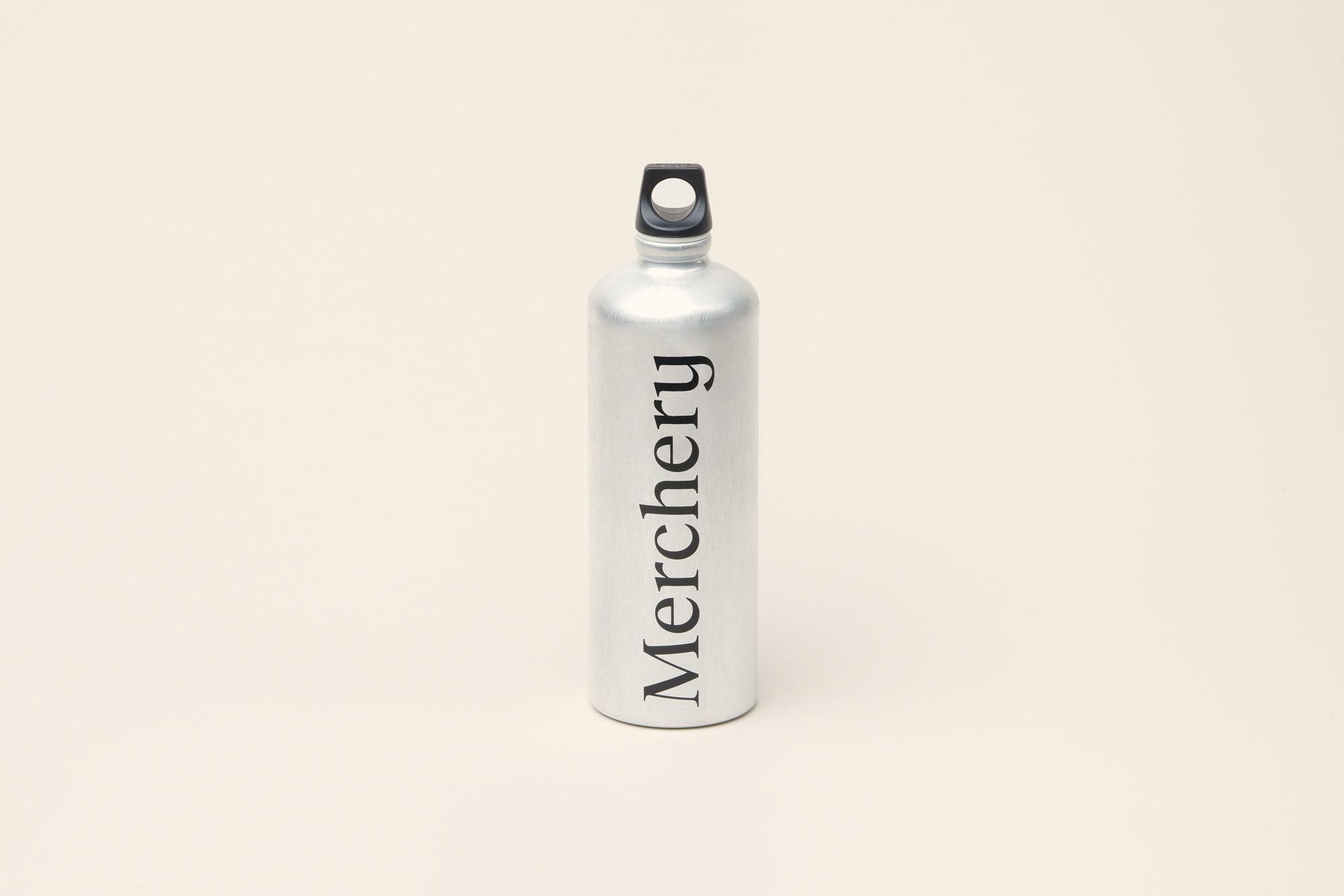 Merchery branded gift aluminium customized bottle 1L