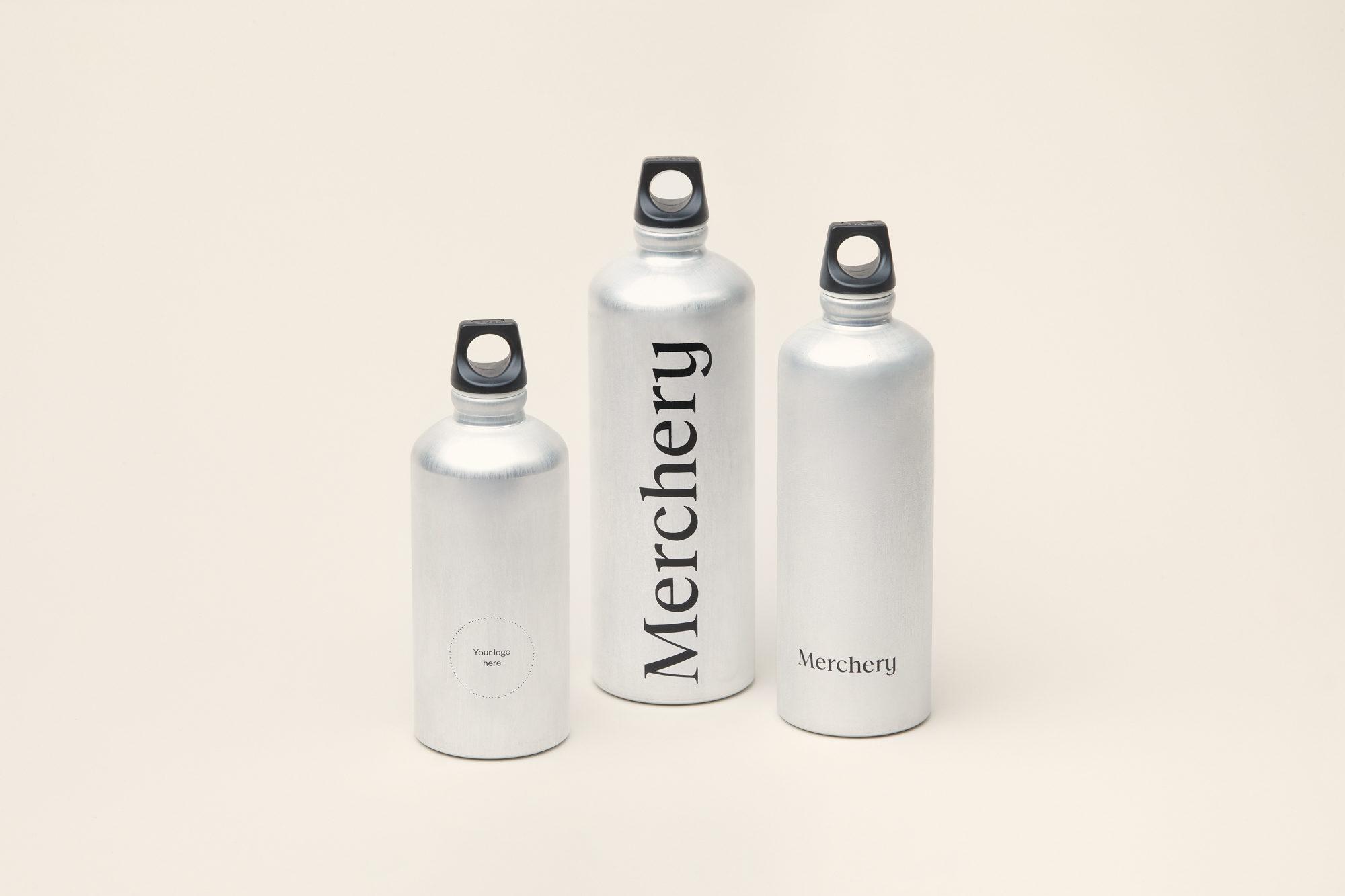 Merchery branded gift aluminium customized bottle all sizes