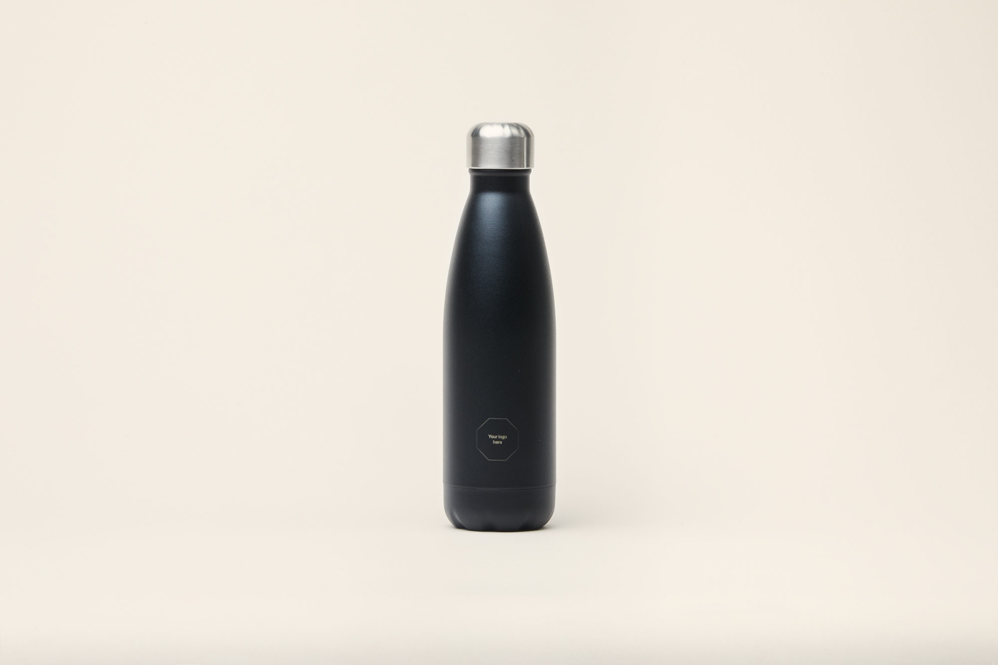 Merchery customized water bottle stainless steel 0.5L insulated sustainable promotional product black