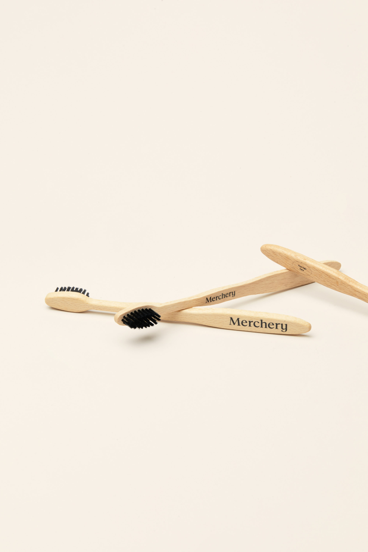 Merchery branded bamboo toothbrush