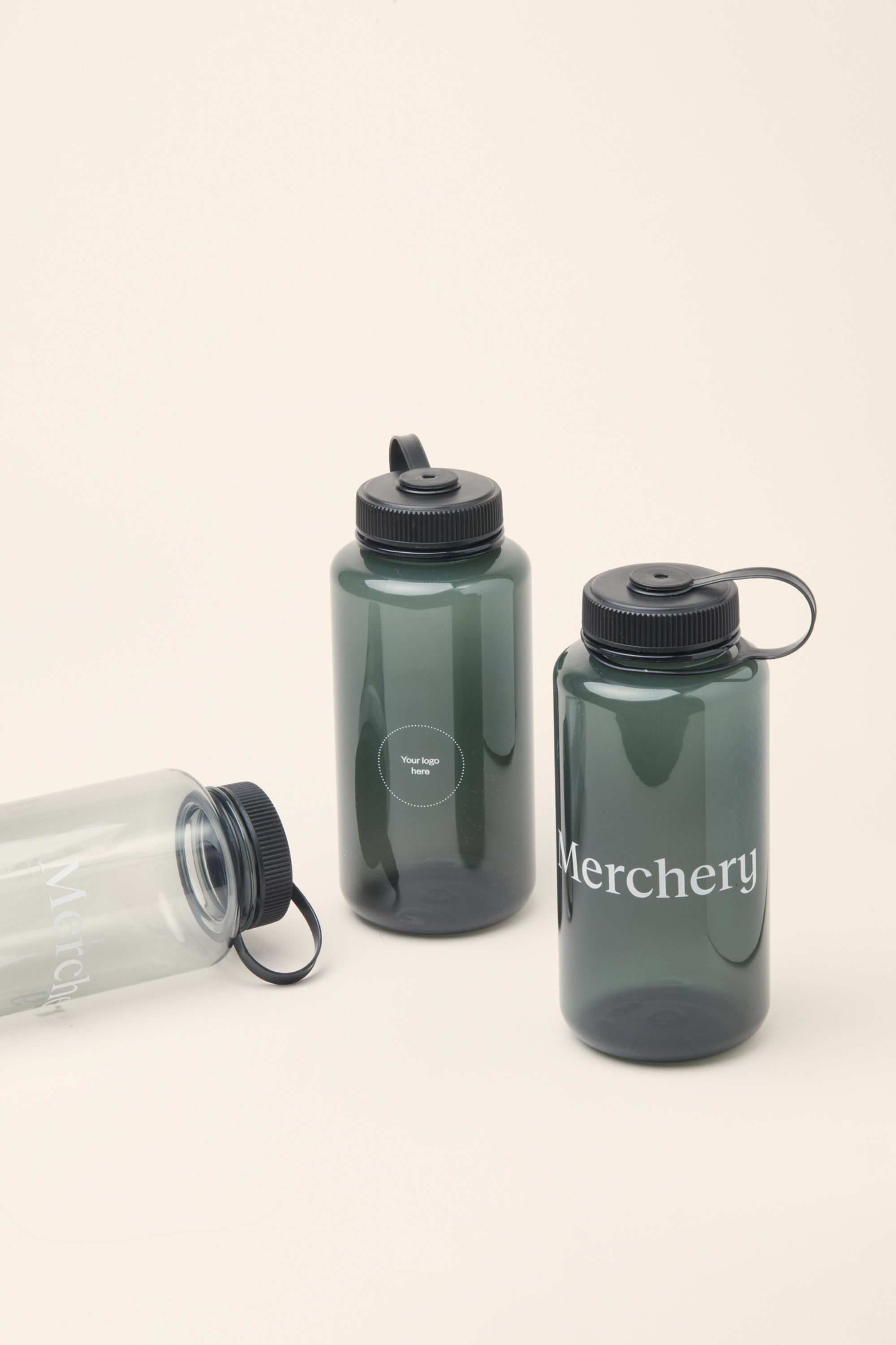 Merchery branded plastic bottle 1L all colors sustainable promotional product