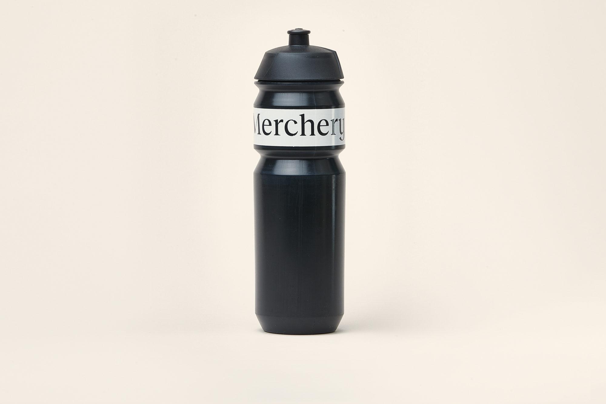 Merchery customized cycling bio bottle black white large eco friendly sustainable branded bottle