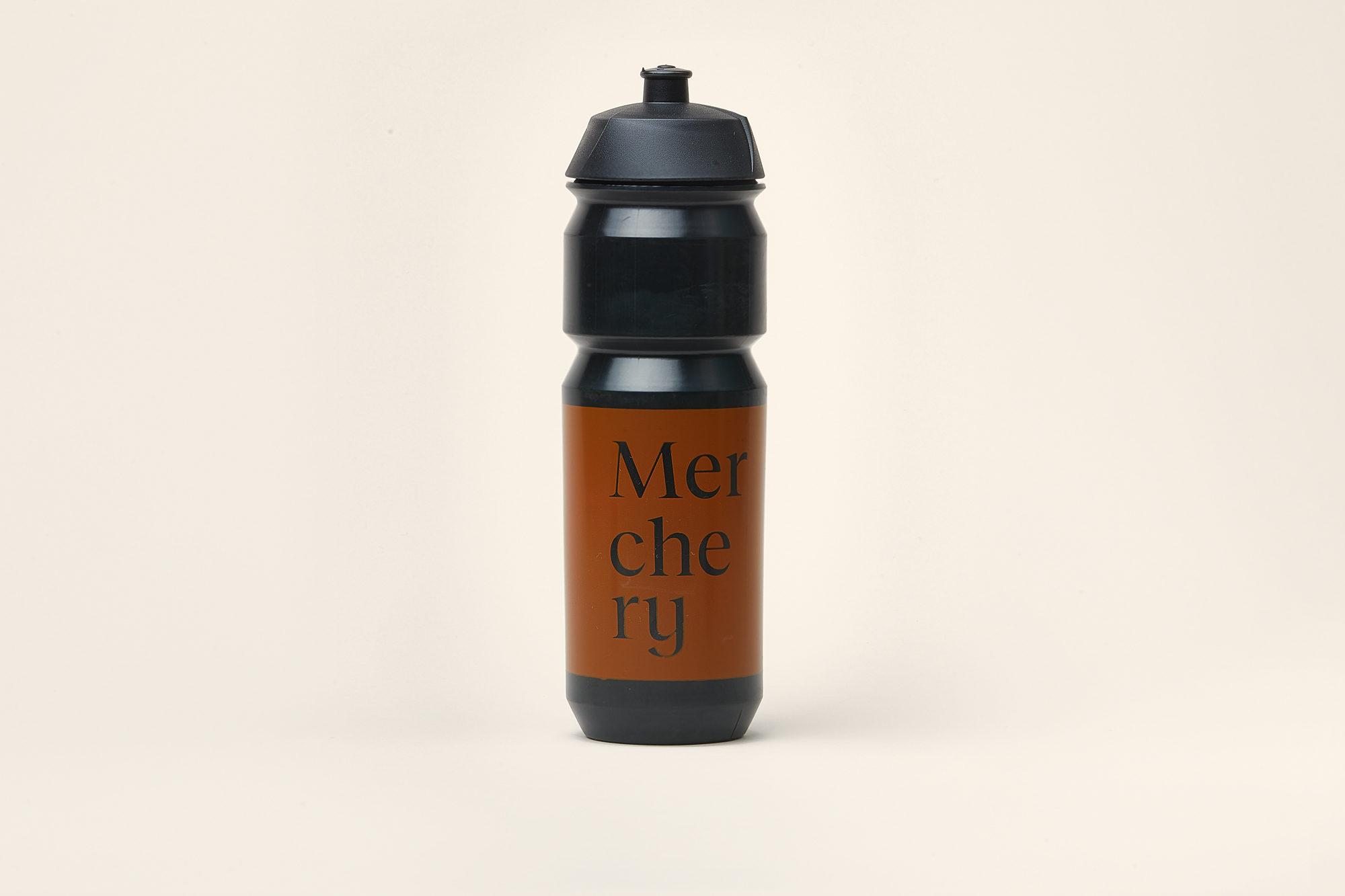 Merchery customized cycling bio bottle black large eco friendly sustainable branded bottle