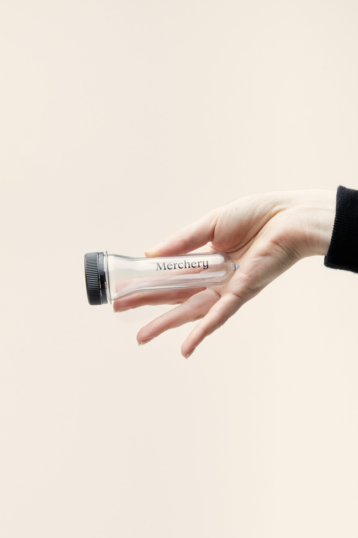 Merchery customized portable ashtray transparent sustainable eco friendly