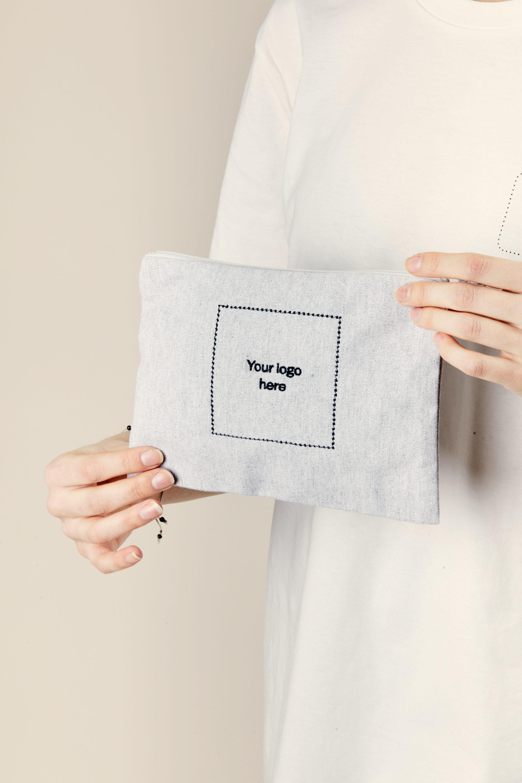 Merchery grey pencil case branded promotional gift