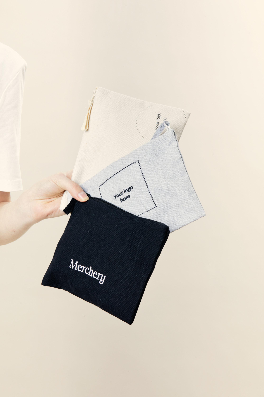 Merchery grey black white pencil case sustainable promotional product
