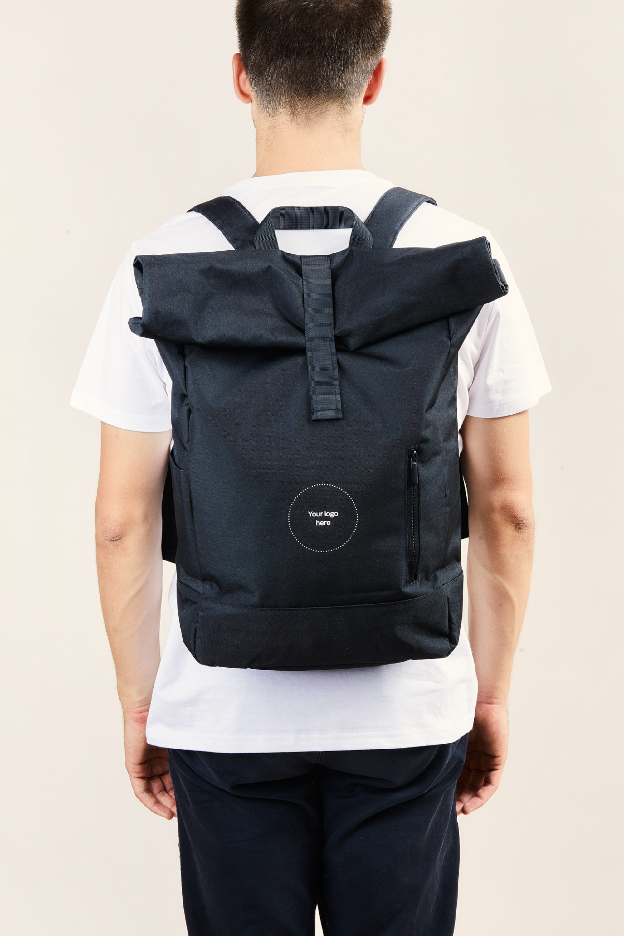Branded recycled corporate backpack - Merchery