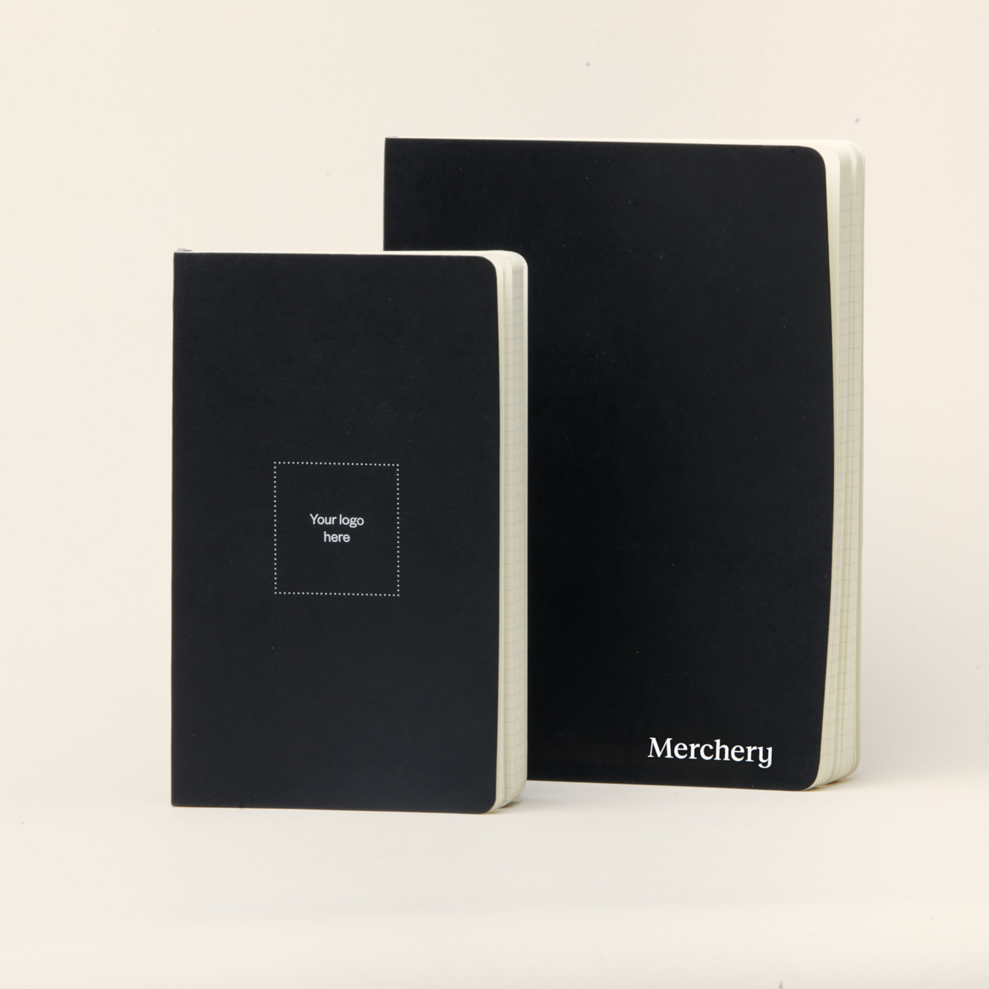Merchery branded Moleskine L and XL