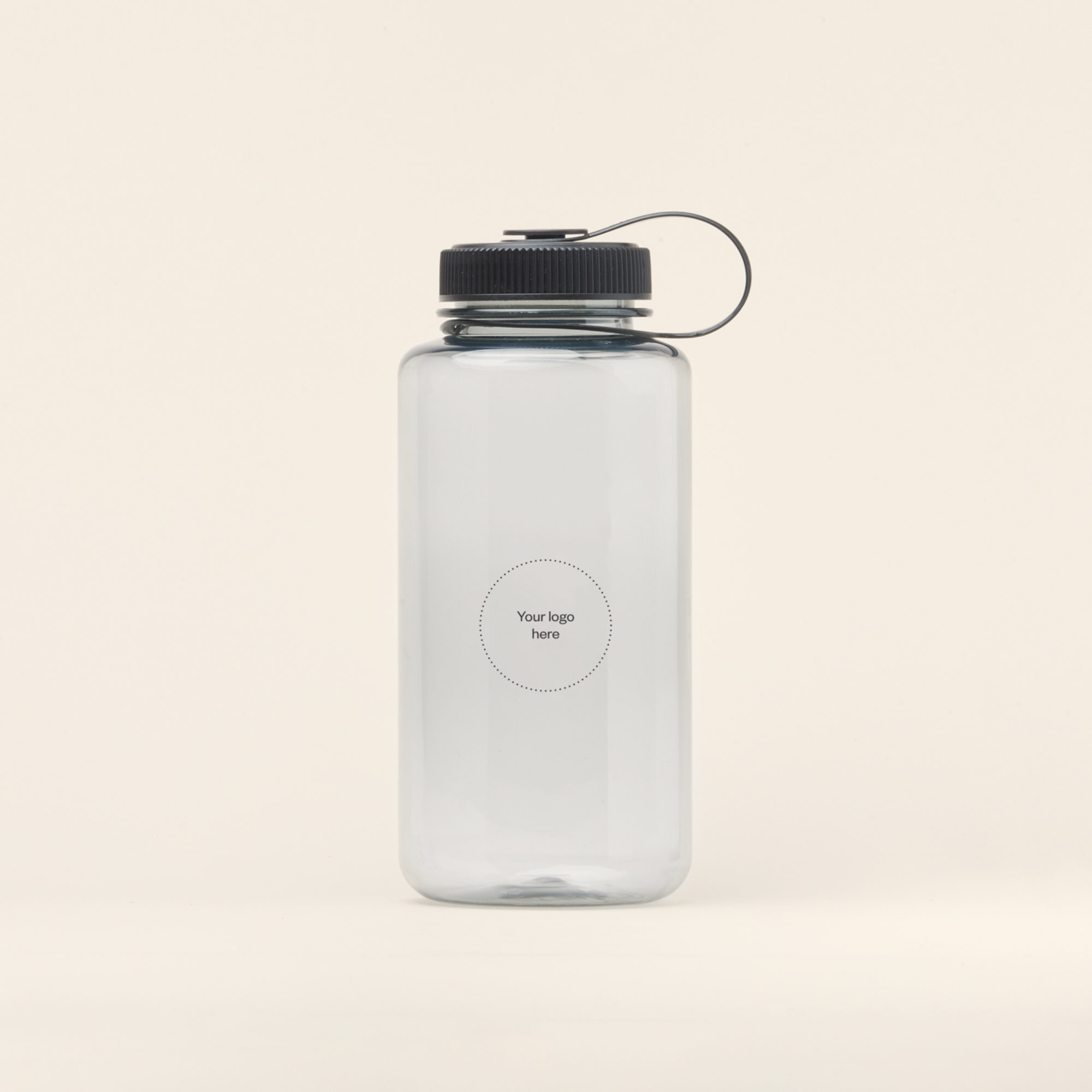 Merchery branded plastic bottle 1L light sustainable promotional product