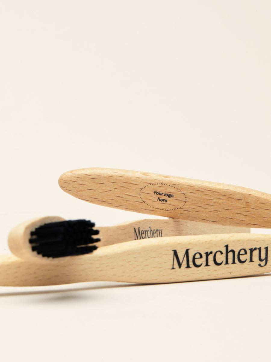 Merchery branded bamboo toothbrush eco friendly company gift