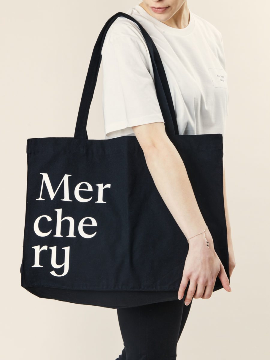 Merchery promotional tote bag 100% organic coton